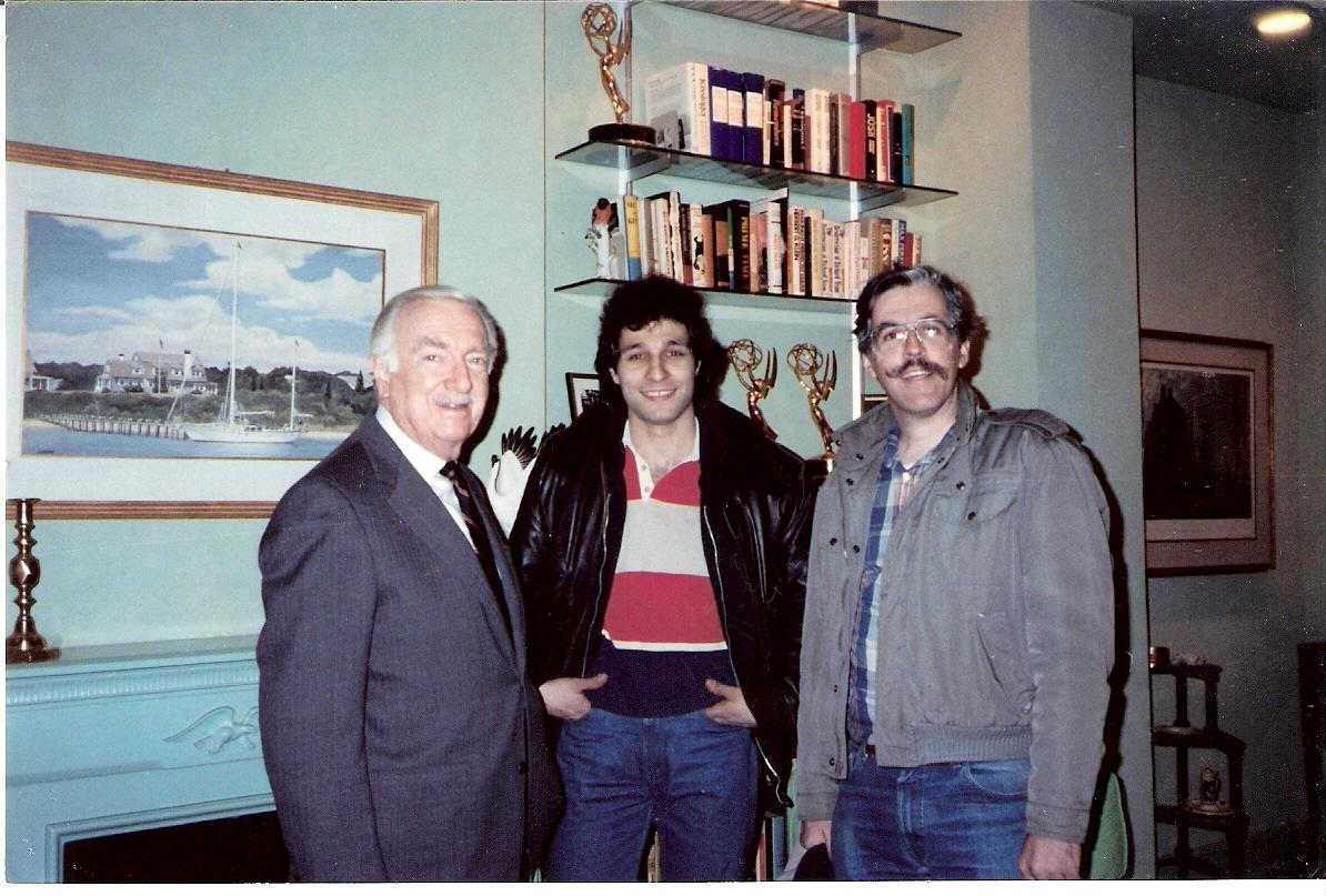 joeNYC technician Peter Arminio with Walter Cronkite